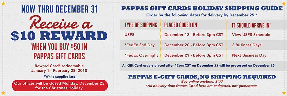 Pappas seafood coupons
